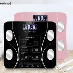 180KG Digital Smart Touch Body Fat Scale Measures Weight Fat Water Muscle Mass