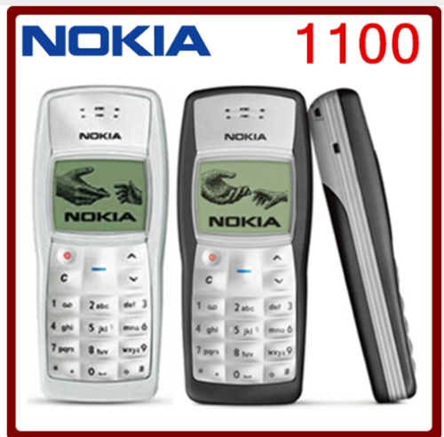 1100 Original Nokia 1100 Unlocked GSM 2G Mobile Phone Cheap Good black
