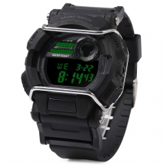Sanda 335 LED Sports Watch with Stopwatch Alarm Day Date Function Black