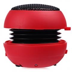 Songli - 12004 Mini Portable USB Hamburger HiFi Stereo Speaker Subwoofer Red One Size