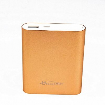 Useek Only 10400mAh Power Bank Power Mate Mobile Power Portable Charger Battery Gold 10400mAh