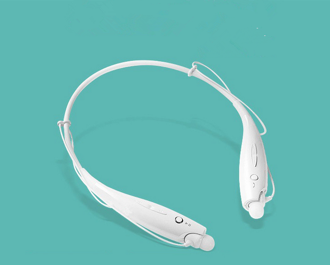 HBS-730 Wireless Bluetooth Headset Sports Bluetooth Earphones Headphone with Mic Bass Earphone white