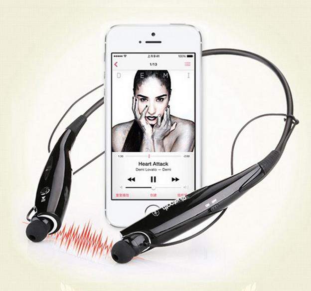 HV-800 Bluetooth Sports Headphone V4.0 Wireless Stereo Headset Neckband Style Headphone black