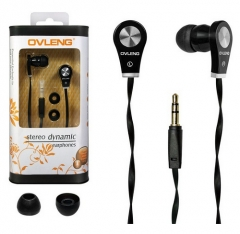 Original OVLENG In Ear Earphone Earbuds for iPhone / Huawei / INFINIX / Other Mobile Phone Headset black