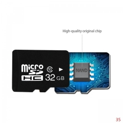 High speed Factory bulk cheap prices Micro SD Card TF Memory Card+adapter free Gift black micro sd 64G