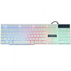 Multimedia LED Illuminated Backlight Wired USB Gaming Keyboard with 104 Keys colorful one size