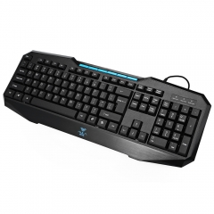 Ergonomic USB Wired Gaming Multimedia Keyboard for Computer PC Laptop black one size