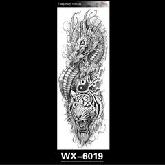 Full Body Arm Sleeve Waterproof Men Tatoo Stickers Full Arm Lion Tiger Animal One Time Body Art WX-6019