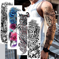 New Full Arm Tattoo Stickers Waterproof Large Temporary Stickers One Time Men Women Body Art TQB-042