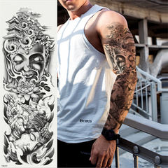 New Full Arm Tattoo Stickers Waterproof Large Temporary Stickers One Time Men Women Body Art TQB-074
