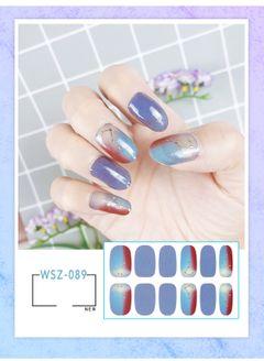 2021 New Translucent Gradient Glitter Nail Sticker All Paste Crystal Nail Polish Sticker Waterproof WSZ-089