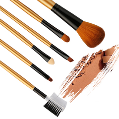 6PCS/Golden makeup brush set/Eyebrow brush/Sponge brush/Powder brush/Eyeshadow brush Golden