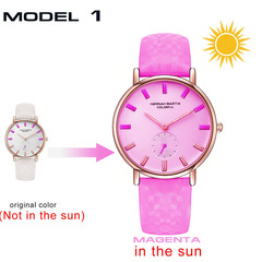 Creative Watch It Will Change Colors Under The Sun Fashion Women Wristwatch Style 1 one size