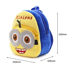 School Bag Generic  cute Cartoon Small Yellow Men Plush Kindergarten Toddler Kid School Bag yellow