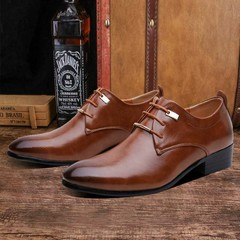 Men's Shoes Generic Casual Men's PU Leather Shoes Business Luxury Office Party Wedding Shoes brown 42 rubber