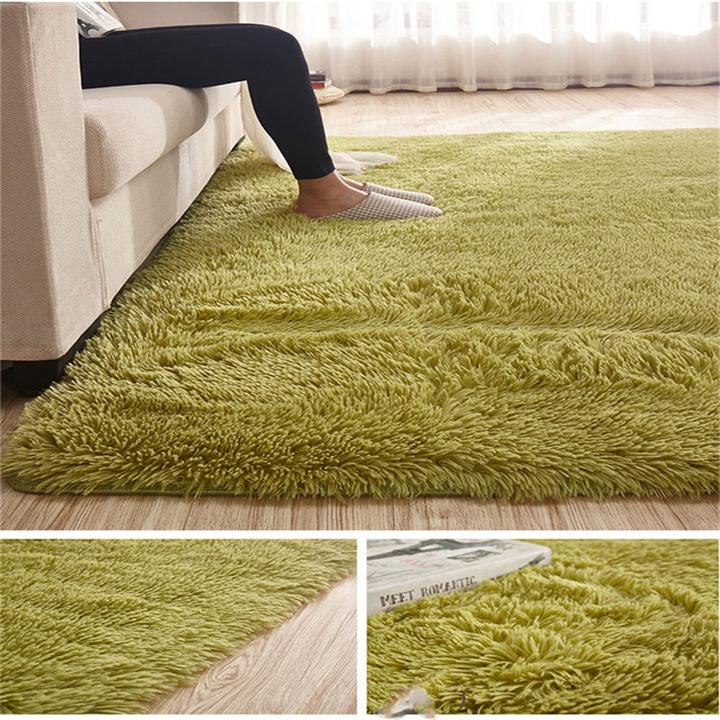 Carpet For Living Room  Home Warm Plush Floor Rugs fluffy Mats Kids Room Faux Fur  Area Rug green 40*60CM