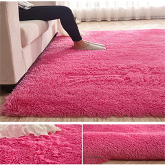 Carpet For Living Room  Home Warm Plush Floor Rugs fluffy Mats Kids Room Faux Fur  Area Rug red 40*60CM
