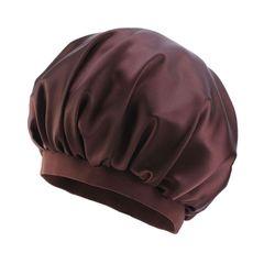 oversized satin Head wraps Headscarf caps sleeping bonnet ladies turban Hats&Caps easter gift 35cm coffee