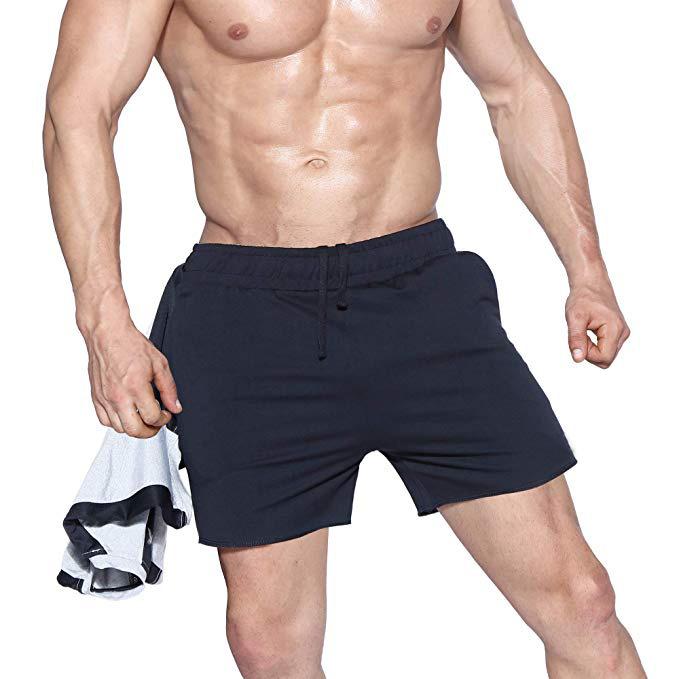 Men's Athletic Gym Shorts Mens Workout Running Bodybuilding Training Short black m