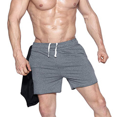 Men's Athletic Gym Shorts Mens Workout Running Bodybuilding Training Short gray m