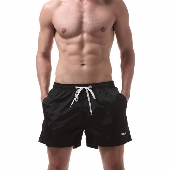 Men's Loose Workout Running Bodybuilding Training Beach Shorts black m