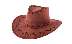 Men Cowboy Outdoor Fishing Sun Hat Street Casual brown one size