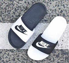 Genuine NIKE Swoosh Men&Women Summer Cool Slippers Fashion non-slip shoes 01 36