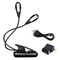 LED Book Light Bed Reading Clip On Rechargeable Lamp Extra Bright 2x4 LED Bulbs USB Cable