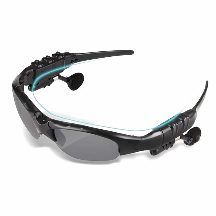 Wireless 4.1 Bluetooth Stereo Sunglasses Stereo Headphone Earphone Sport Headset With Mic Black one size