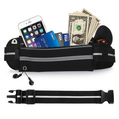 iPhone Android Phone Bags Outdoor Waterproof Sport Running Belts Bags Hiking Zip Bag black Black All Size