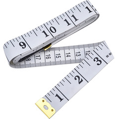 Body Measuring Tape Ruler Sewing Cloth Tailor Measure Soft Flat 150cm Long 2cm Wide White 150CM