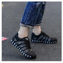 Casual single shoes women's 2019 new large size flat bottom good quality beige outdoor shoes black 36