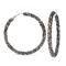 1 Pair of  Earrings Hot Sell Rhinestone round Exaggerated Big Circle Hoop Earrings(6.5*6.5) black 6.5cm*6.5cm