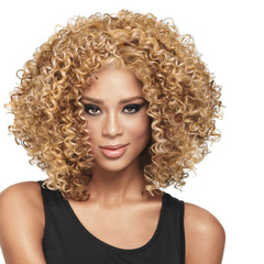 African Synthetic  Wigs New Fashion Hair Wigs Women Wigs Hair Curly 15inch Three colors gold 15inch