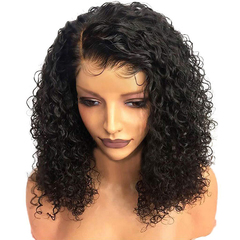 African Female New Fashion Hot Selling Ladies Curly Hair Wig High Temperature Silk Wigs 13 inch black 13inch
