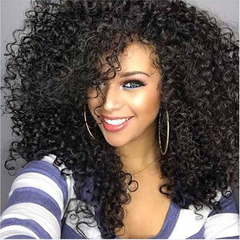 Synthetic Wigs New Fashion Black Hair Wigs African Popular Small Curly Hair 20 inch black 20inch