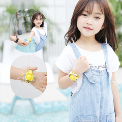 Long-lasting silicone cute cartoon baby mosquito bracelet baby outdoor mosquito repellent foot ring yellow