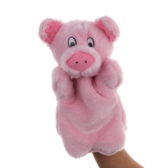 Plush toy puppet small animal pink pig Cartoon Soft Cute Puppets Stuffed Plush Toy one size pink 25*15cm