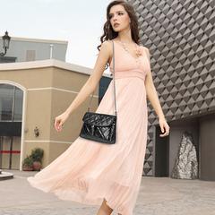 Women's handbags shoulder bag tassel pu black Small Shopping Bag Shoulder Messenger Crossbody Bags black 26*16*8cm