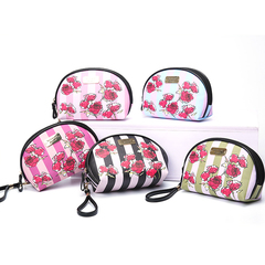 New fashion rose ladies clutch bag multi-function mobile phone coin purse printing shell bag green stripe 18*14*8.5cm
