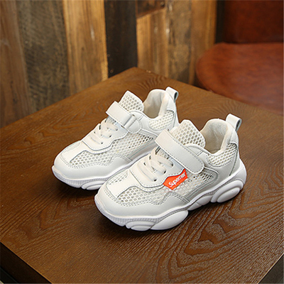 Children Sneakers Soft Toddler Girls Boys Loafers Net cloth Running Casual Shoes kids Wtite 9.5