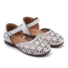 2019 Girls Summer Sandals Baby Girl Toddler Kids Shoes With Sweet Princess Soft Children's Shoes white 2.5