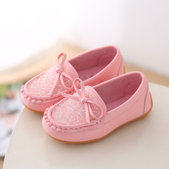 Children's Shoes 2019 Korean Candy Bean Shoes Anti-skid Bovine Tendon Bottom Shoes for Men and Women pink 22