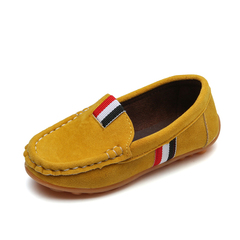 Spring and Autumn Boy's Doudou Shoes , casual shoes, anti-suede shoes, single shoes, student shoes yellow 21