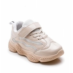 Girls'Shoe New Korean Version Boys' Shoes with Mesh Upper Permeable Children's Mesh Red Shoes Beige 26