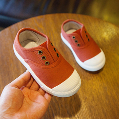Children's Canvas Shoes, Boys'Single Shoes, New Girls' Shoes, Breathable Cloth Panel Shoes red 21