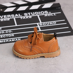 Baby Shoes 1-2-3 years old 4 boys'leather shoes Girl leather slippery soft sole children's shoes yellow 29