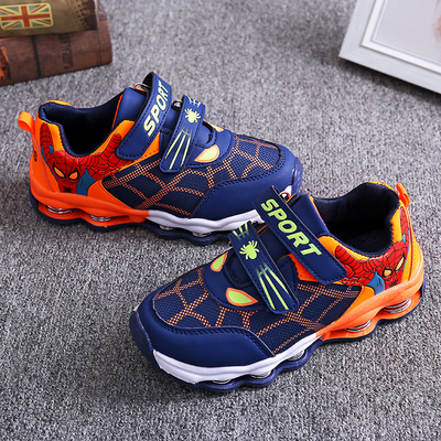 Children's sneakers, boys'and girls' sneakers, sneakers,spring-soled running shoes, anti-skid dark blue 25