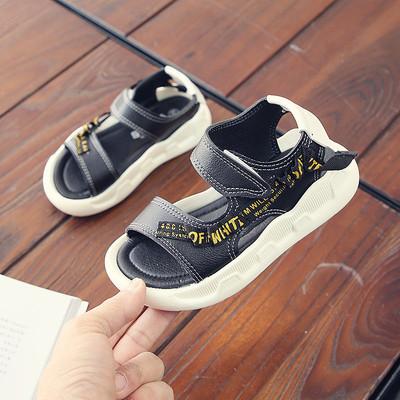 Girls'Sandals Summer 2019 New Korean Boys' Beach Shoes black 27