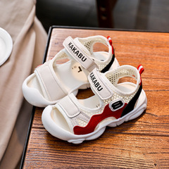 Boy sandals 2019 new Korean version baby soft sole sports summer children beach shoes 1-2-3 years beige 30